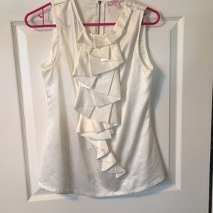 White silk tank top! Romeo and Juliet!